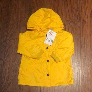 Minnie-Mickey Yellow Raincoat